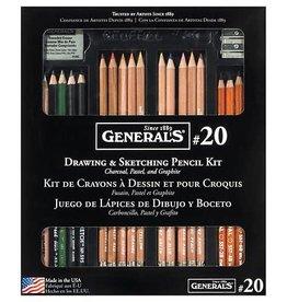 General Pencil General Pencil Drawing & Sketching Pencil Kit No. 20