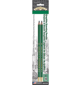 General Pencil General Pencil Kimberly Drawing Pencil, 2-Pencil Set, 2B