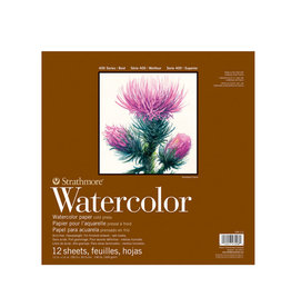 "Strathmore Strathmore 400 Series Watercolor Pad, Cold Press 12""x12"" 12 Sheets"