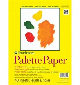 """Strathmore Strathmore 300 Series Palette Pad, 9""""x12"""" Tape Bound, 40 Sheets"""
