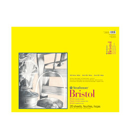 "Strathmore Strathmore 300 Series Bristol Smooth Pad, 19""x24"" Tape Bound, 20 Sheets"