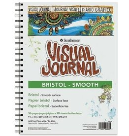 "Strathmore Strathmore 300 Series Visual Bristol Journal, 9""x12"" Smooth, Wire Bound, 28 Sheets"