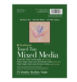 Strathmore Strathmore 400 Toned Tan Mixed Media Pads 6 x 8
