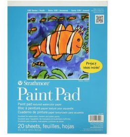 """Strathmore Strathmore 100 Series Youth Paint Pad, 9""""x12"""" Tape Bound, 20 Sheets"""