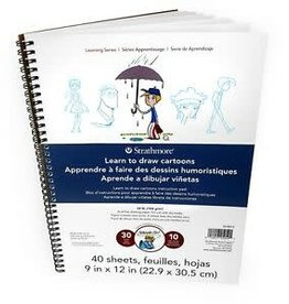Strathmore Strathmore Learn to Draw Wire Pad 9''X12''-Cartoons