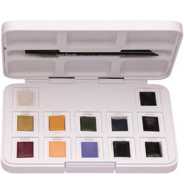 Royal Talens Van Gogh Watercolour Plastic Pocket Box  12 Pan Muted Colours