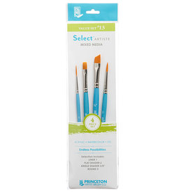 "Princeton Select Value Set #13- Liner 1, Flat Shader 6, Angle Shader 3/8"", Round 3"