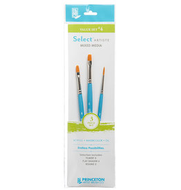 Princeton Select Value Set #4- Filbert 4, Flat Shader 6, Round 2