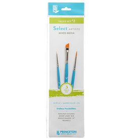 "Princeton Select Value Set #2- Short Liner 18/0, Angle Shader 1/4"", Round 2"
