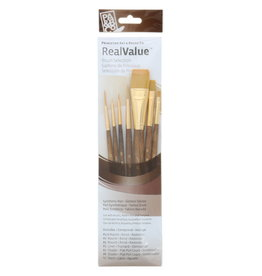 Princeton Brush Real Value 6-Brush Golden Taklon Brush Set, Round 5/0, 0, 5, Liner 2, Shader 2, 8