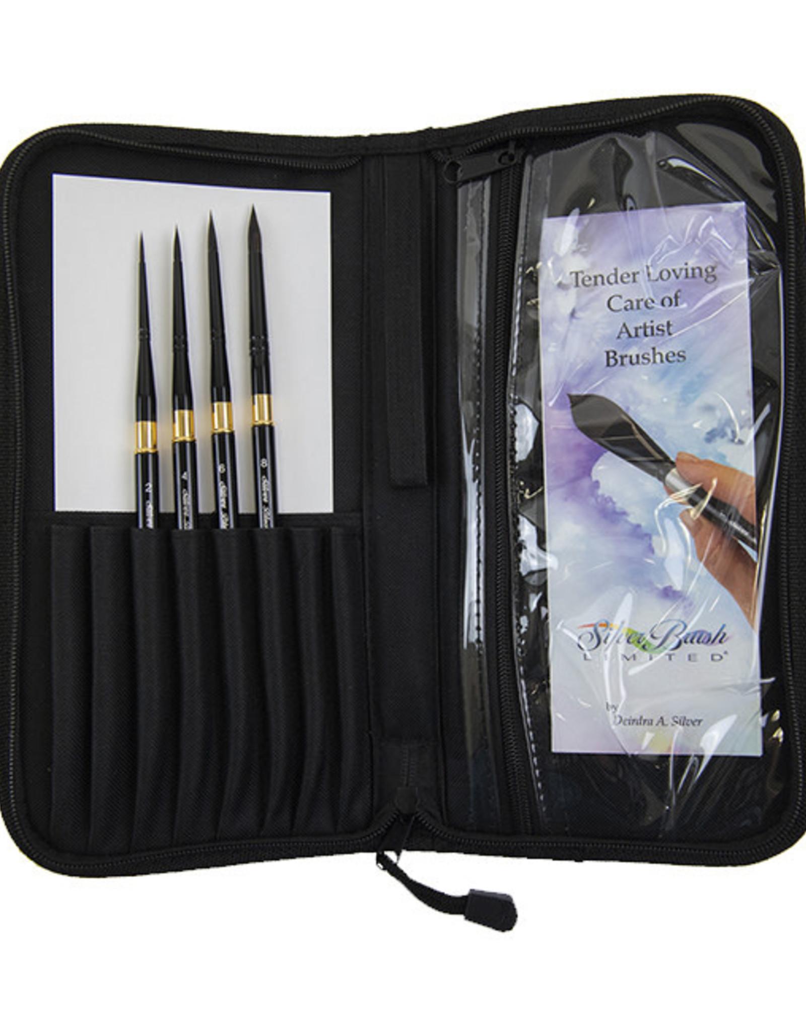 Silver Brush Silver Brush Black Velvet Voyage Deluxe 5 Pc Travel Brush Set