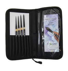 Silver Brush Limited Silver Brush Silver Brush Black Velvet Voyage Deluxe 5 Pc Travel Brush Set