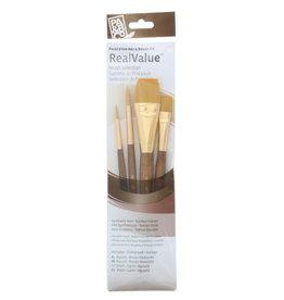 Princeton Brush Set Syn-Gold Taklon (Rnd 4, 8, Wash 1/2, 1)