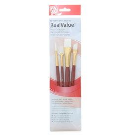 Princeton Brush Set Syn-White Taklon (Rnd 6, Fan 2, Wash 5/8, Ang 3/8)