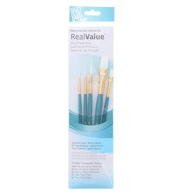 Princeton Art & Brush Real Value Brush Set, Synthetic White Taklon