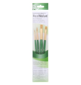 Princeton Artist Brush, Set 9116 4-Pc Gold Taklon