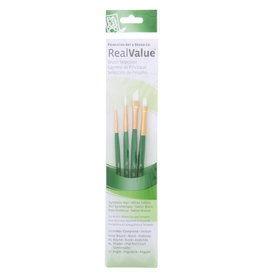Princeton Brush Set Syn-White Taklon (Rnd 3/0, 3, Shader 4, Ang 1/4)