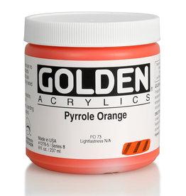 Golden Golden Heavy Body Pyrrole Orange 8 oz jar