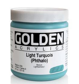 Golden Golden Heavy Body Light Turquois (Phthalo) 8 oz jar