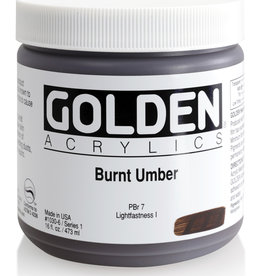 Golden Golden Heavy Body Burnt Umber 16 oz jar