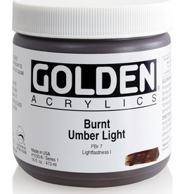 Golden Golden Heavy Body Burnt Umber Lt. 16 oz jar