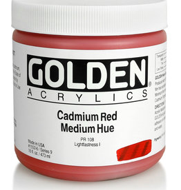 Golden Golden Heavy Body Cad. Red Medium Hue 16 oz jar