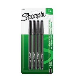 SHARPIE Sharpie Fine Point Black Pen Set of 4