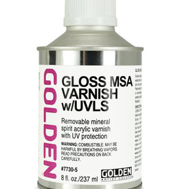 Golden Golden Gloss MSA Varnish w/UVLS 8 oz cone top