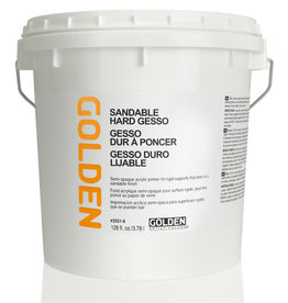 Golden Golden Sandable Hard Gesso 128oz HDPE White Pail