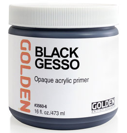 Golden Golden Black Gesso 16 oz jar