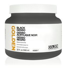 Golden Golden Black Gesso 32 oz jar