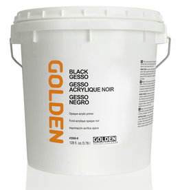 Golden Golden Black Gesso 128oz HDPE White Pail