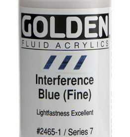 Golden Golden Fluid Interference Blue (fine) 1 oz cylinder