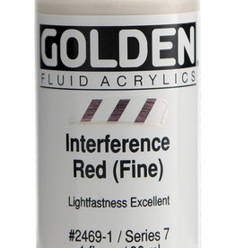 Golden Golden Fluid Interference Red (fine) 1 oz cylinder