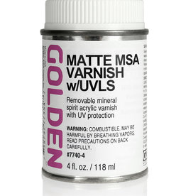Golden Golden Matte MSA Varnish w/UVLS 4 oz can