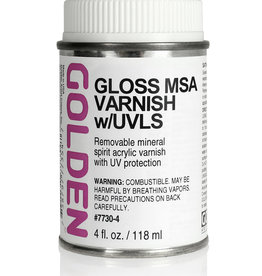 Golden Golden Gloss MSA Varnish w/UVLS 4 oz can