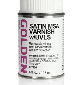 Golden Golden Satin MSA Varnish w/UVLS 4 oz can