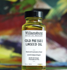 Golden Williamsburg Cold Pressed Linseed Oil 4 oz cylinder
