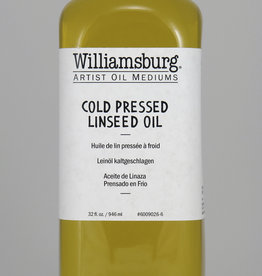 Golden Williamsburg Cold Pressed Linseed Oil 32 oz cylinder