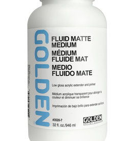 Golden Golden Fluid Matte Medium 32 oz Silgan Wide Mouth Round