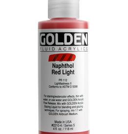 Golden Golden Fluid Naphthol Red Light 4 oz cylinder