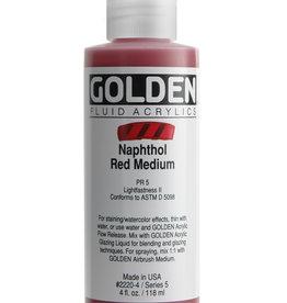 Golden Golden Fluid Naphthol Red Med. 4 oz cylinder