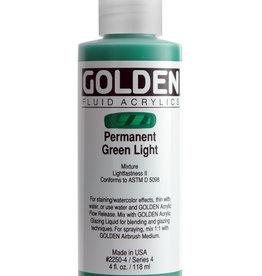 Golden Golden Fluid Permanent Green Lt. 4 oz cylinder