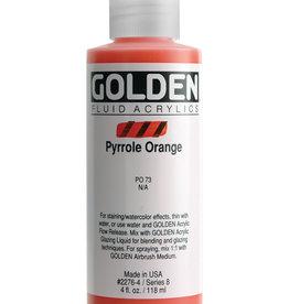 Golden Golden Fluid Pyrrole Orange 4 oz cylinder