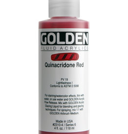 Golden Golden Fluid Quin. Red 4 oz cylinder