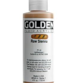 Golden Golden Fluid Raw Sienna 4 oz cylinder