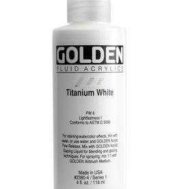Golden Golden Fluid Titanium White 4 oz cylinder