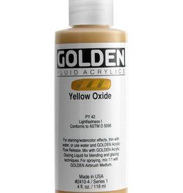 Golden Golden Fluid Yellow Oxide 4 oz cylinder