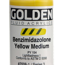 Golden Golden Fluid Benzimidazolone Yellow Med 1 oz cylinder