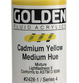 Golden Golden Fluid Cadmium Yellow Medium Hue 1 oz cylinder